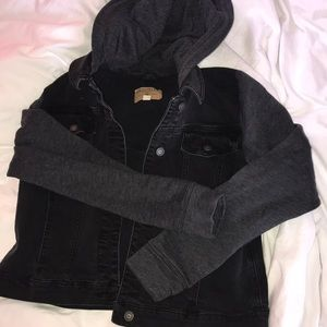 Hollister Black Jean Jacket